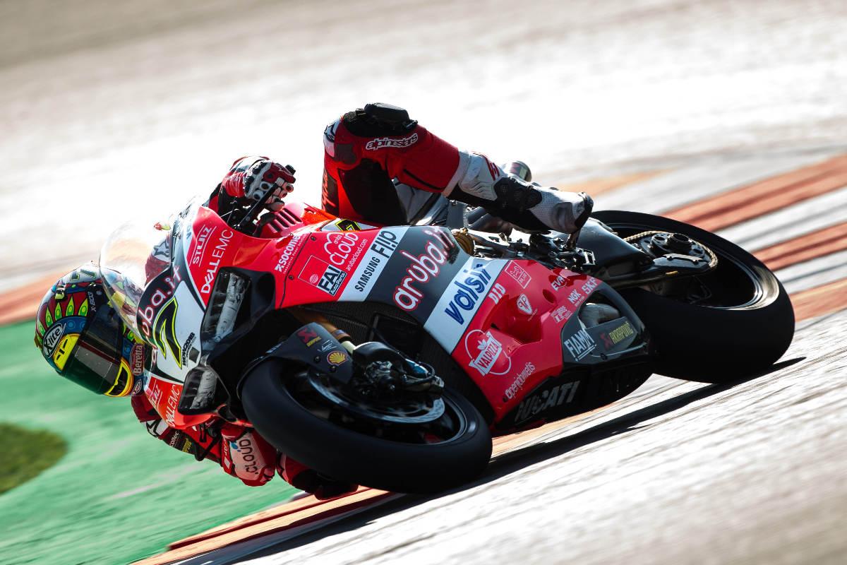 Aruba Ducati Sign Bautista And Complete Portimao Test - Chaz Davies Action