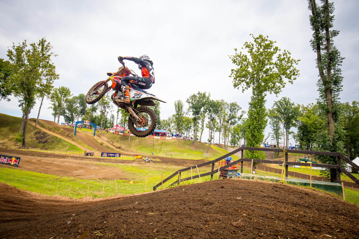 Ironman Pro Motocross Season Ends at Crawfordsville Indiana - Marvin Musquin In Action