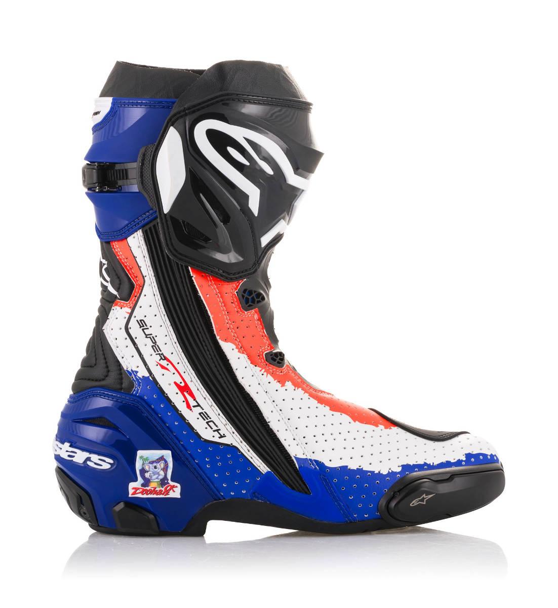 2018 Limited Edition Mick Doohan Alpinestars Supertech R Race Replica Boots Inner Side