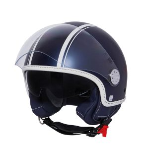 New Vespa Yacht Club and Double Black Special Edition Helmets - Blue Yacht Club Helmet Front