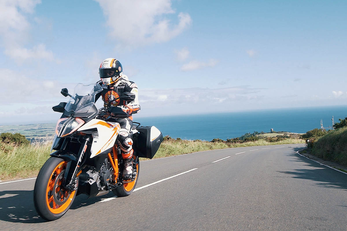 Michael Rutter Rides The 2019 KTM 1290 Super Duke GT On The Isle of Man Open Road