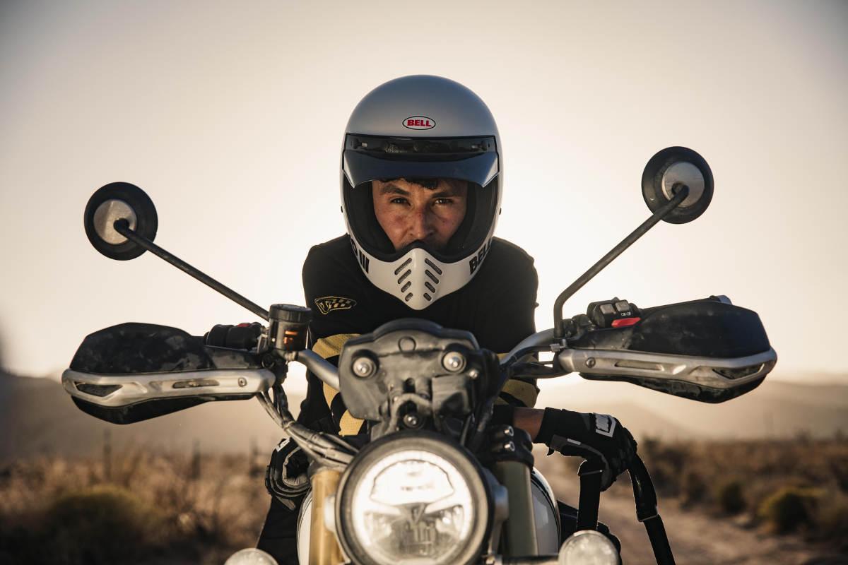 Ernie Vigil on new Triumph Scrambler 1200 XE He Will Race In The Baja 1000