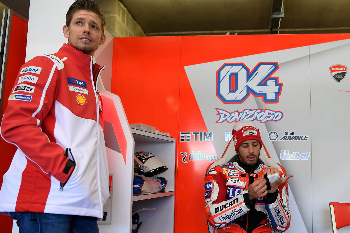 Casey Stoner And Ducati Part Ways - Pictured in 2017 with Andrea Dovizioso